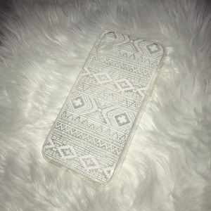 Accessories - BOGO iPhone X case clear w/ White geometric print
